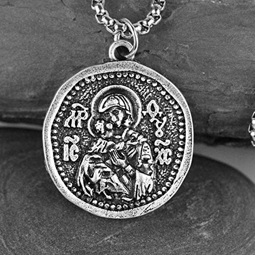 Mens and Womens Necklace Icon Miraculous Medallion Religious Jewelry