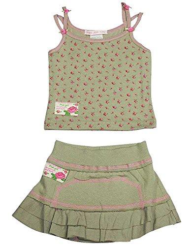 Mishmish - Baby Girls Floral Skort Set, Taupe, Pink 11765-6Months