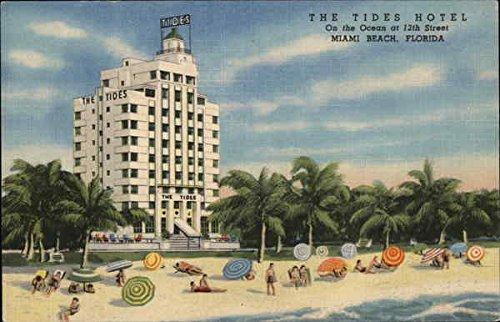 (The Tides Hotel Miami Beach, Florida Original Vintage Postcard)