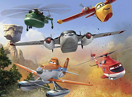 Puzzle Plane - Ravensburger Disney Planes Fire & Rescue: Fighting The Fire - 100 Piece Jigsaw Puzzle for Kids - Every Piece is Unique, Pieces Fit Together Perfectly