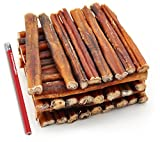 ValueBull Bully Sticks Dog Chews, 6 Inch Thick, All Natural, 50 Count