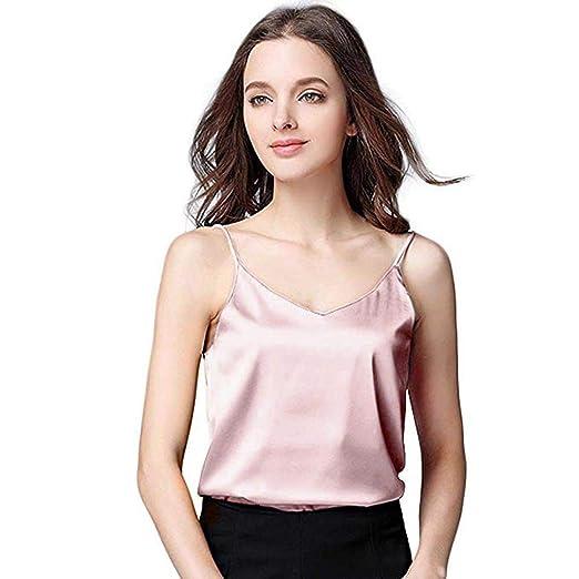 adb9f35e1a5b chengzhijianzhu_Women Shirts Girls Tank Crop Cami Tops Women Silk Camisole  Bottom Blouse Shirt Soft Satin Tank