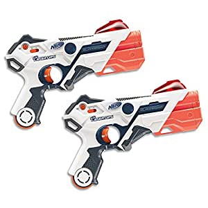 NERF - Laser Ops -AlphaPoint Blaster 2 Pack - The Ultimate Electronic Laser Game - Blasters & Armbands - Kids Toys & Outdoor games - Ages 8+