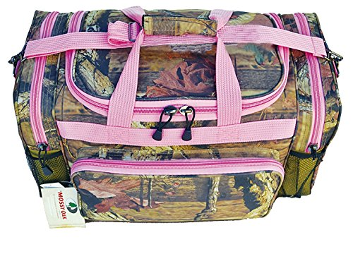 Explorer Tactical Pink Mossy Oak Camouflage Sport Duffle Luggage Bag, 20-Inch