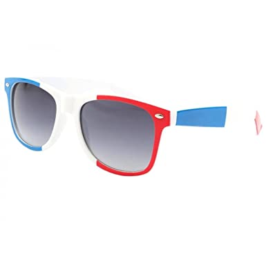 Eye Wear Lunettes de soleil France Bleu Blanc Rouge - Mixte  Amazon ... fd52208a00a0