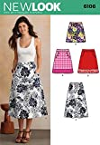 New Look Sewing Pattern 6106 - Misses' Skirts Sizes: A (10-12-14-16-18-20-22) by New Look