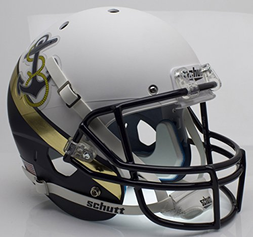 Schutt NCAA Navy Midshipmen Replica XP Football Helmet, White/Navy Alt. 2