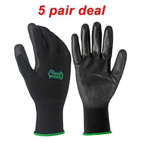 (5 PACK Gorilla Grip Gloves - Small )
