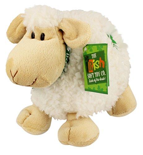Large Irish Sheep with Shamrock Soft Toy - Cream Color ()