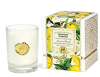 The Deborah Michel Collection Lemon Basil Gift Boxed Scented Candle, 9 oz