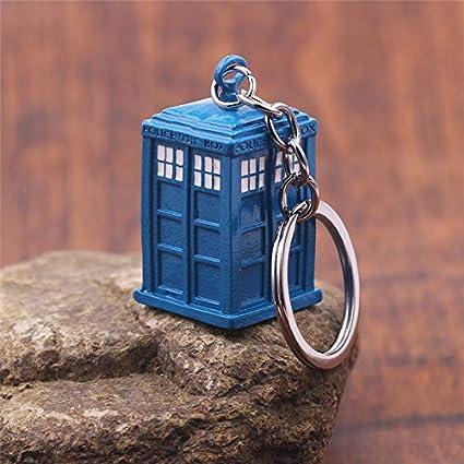 Doctor Who Azul Tardis Caja De Policía Llavero De Cobre ...