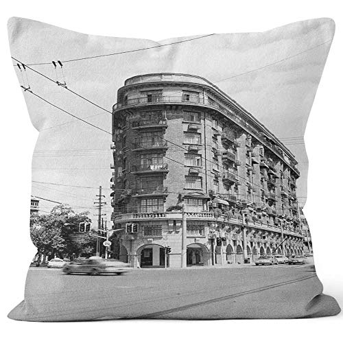 Nine City Normandie Apartment Throw Pillow Cushion Cover,HD Printing Decorative Square Accent Pillow Case,18