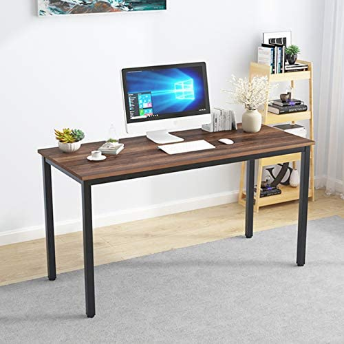 SDHYL 55 inches Contemporary Computer Desk Spacious Workstation Sturdy Writing Desk Meeting Desk
