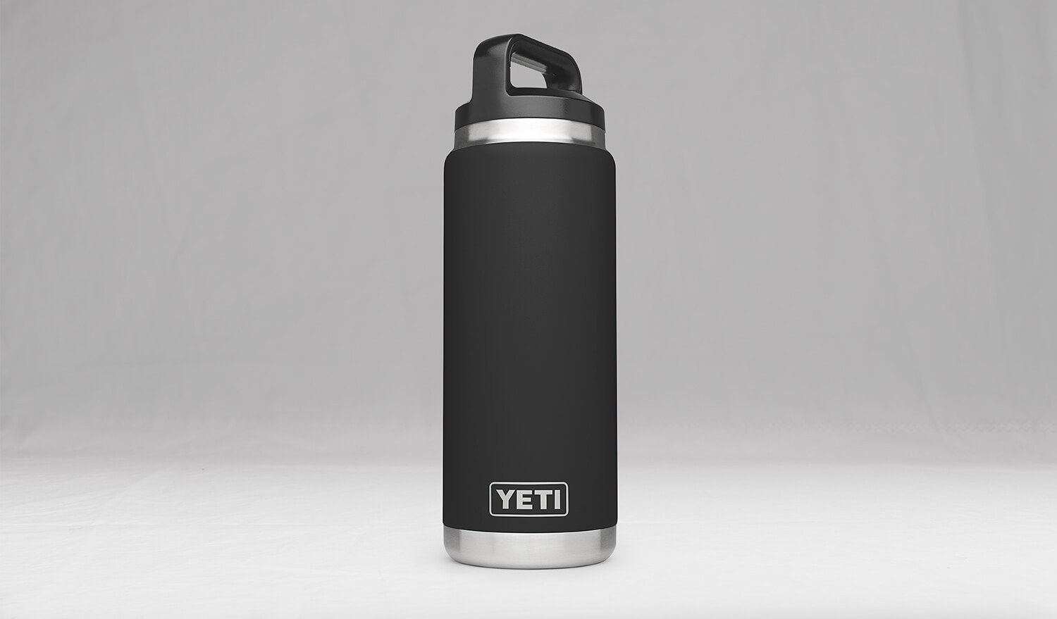 0a8f486a4c Amazon.com: YETI Rambler 26oz Vacuum Insulated Stainless Steel Bottle with  Cap, Black DuraCoat: Sports & Outdoors