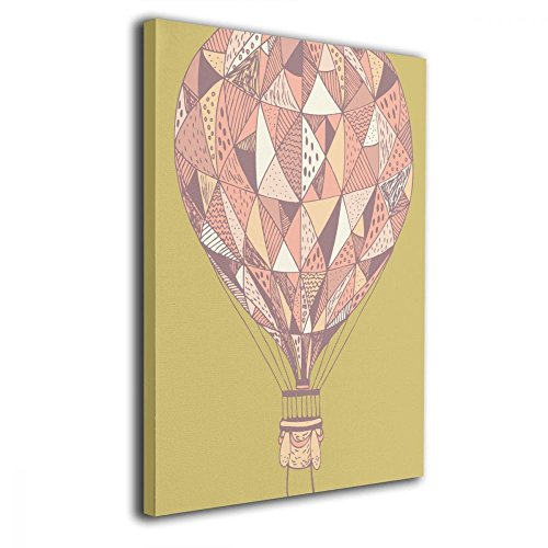 TRdY Page I Love Hot Air Balloon Travel Painted Canvas Inner Framed Wall Decor Modern Artwork for Office Home Decor Pictures Ready to Hang for Living Room Bathroom