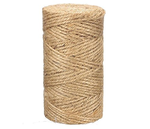 JQWORKLAND Feet Natural Jute Twine Best Industrial Packing Materials Heavy Duty Natural Jute Twine for Arts and Crafts and Gardening Applications (300 Feet (Scrapbooking Feet)