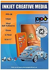 PPD Inkjet Glossy Creative Vinyl Stickers LTR 8 5 x 11