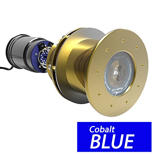 (Bluefin LED Great White GW20 Thru-Hull Underwater LED Light - 9000 Lumens - Topaz Blue (53392))