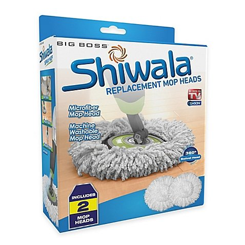 Big BossTM Shiwala® Replacement Mop Heads (Set of 2) | 13' L x 13' W