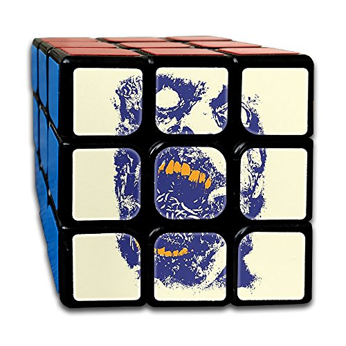Halloween Vector Zombie Face Puzzle Cube 5.5X5.5X5.5 Magic Cube Speed Cube Educational Toys Gifts For All Age (Halloween Zombies Vector)