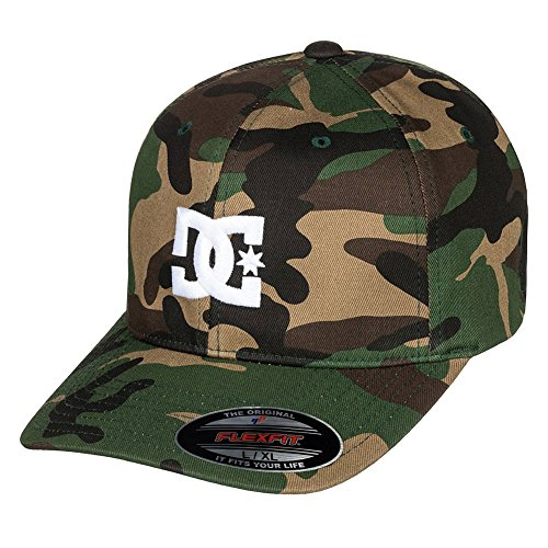 Fit Flex Camo Cap (DC Men's Cap Star 2 Flex Fit Hat, Camo, L/XL)