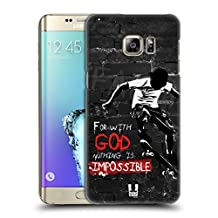 Head Case Designs Nothing Is Impossible Christian Rider Hard Back Case for Samsung Galaxy S6 edge