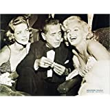 Liby - Hollywood Triangle - Kunstdruck Filmposter schwarz-weiss Marilyn Monroe Humphrey Bogart 80x60cm