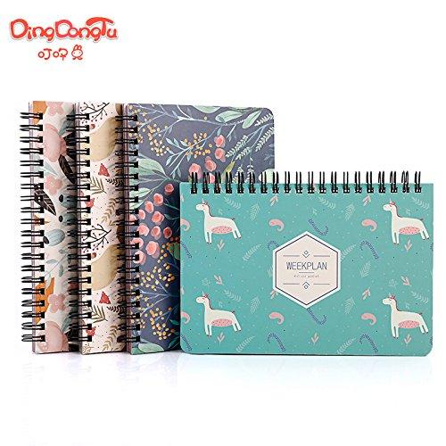 DHmart Lovely Kawai flamingo Calendar Mini Table Calendars Desk Calendar Office School Supplies 2018 Calendar Escolar Papelaria by DHmart (Image #3)