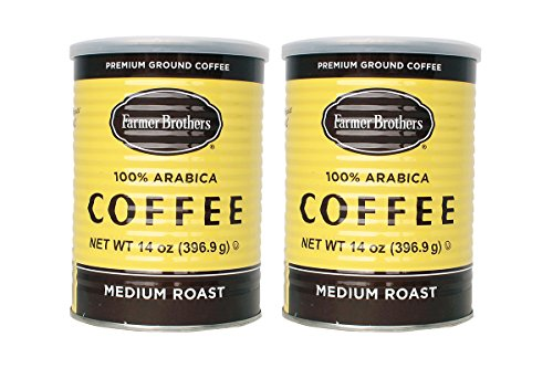 Farmer Brothers 100% Arabica Coffee, Ground in Classic Can - 14 Oz Can (Pack of 2)