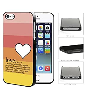 Definition Of Love With Pastel Colors Hard Plastic Snap On Cell Phone Case Apple iPhone 5 5s