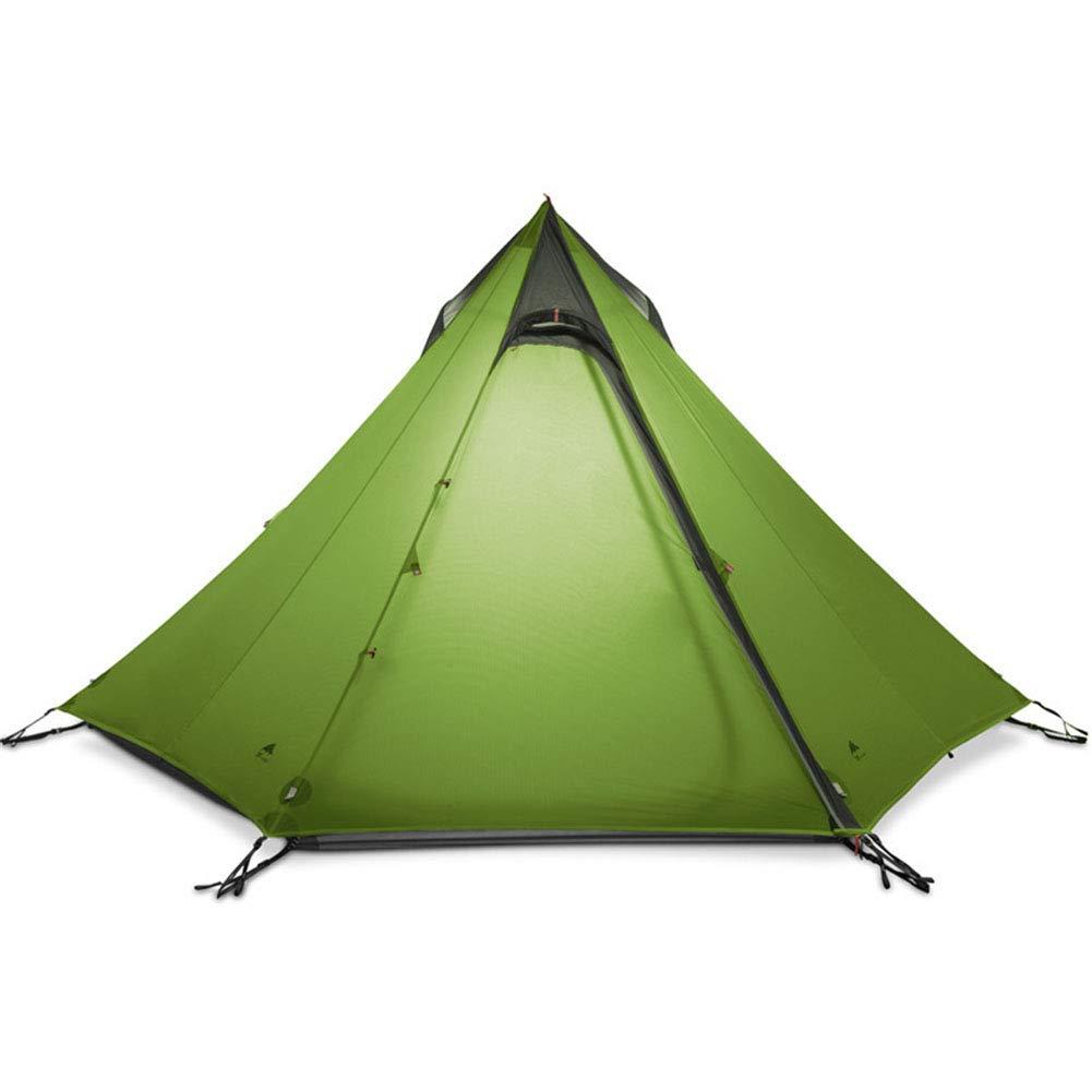 Zelt, Outdoor Camping Zelt 3-4 Person 3 Season Large Ultralight Vorg Regenschutz Windproof Pyramide ohne Polzelte