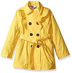 Urban Republic Big Girls\' My Fave Trench Coat, Canary Yellow, 7/8