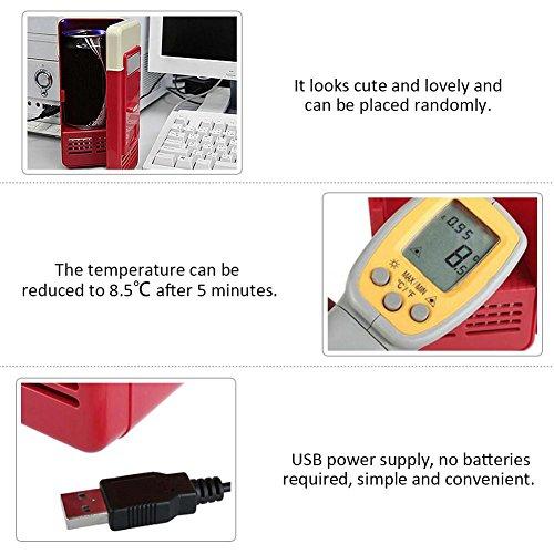 Sundlight USB Fridge, 5V USB Power Operated Portable Mini Beverage Cooler Fridge Cooler Electronic Medicine Use for Car,Office,Home by Sundlight (Image #4)