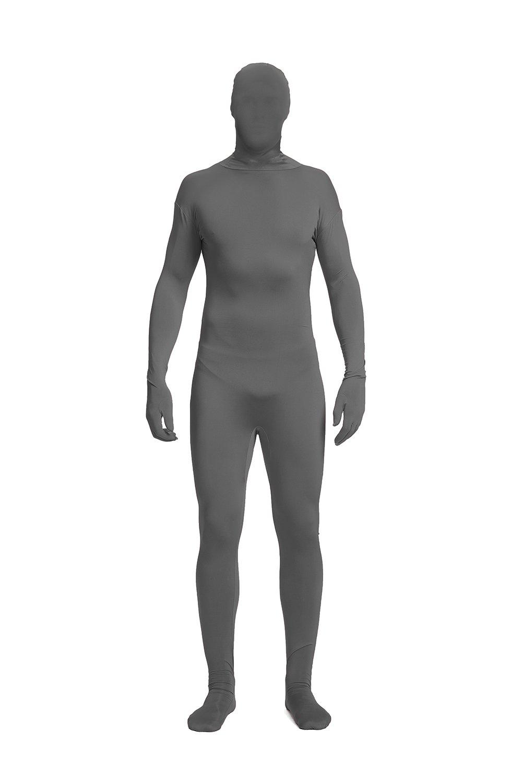 Full Bodysuit Lycra Spandex Unisex Unitard Tights Suit Zentai Cosplay Costume (Large, Dark Grey)