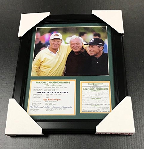 Photo Nicklaus (11X14 Framed & Matted Jack Nicklaus , Arnold Palmer , Gary Player Major List 8X10 PHOTO PGA)