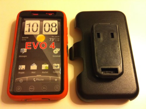 032884172047 - New Defender Case for Htc Evo 4g with Hip Holster That Doubles As a Media Stand Generic Otterbox Defender Series carousel main 1