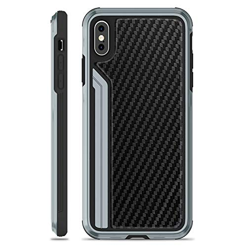 Price comparison product image OCYCLONE TGVi'S iPhone Xs Max Case,  [Military Grade Drop Tested] Luxury Carbon Fiber with Metal Edge Protective Shockproof Bumper Case Cover for iPhone Xs Max2018 New