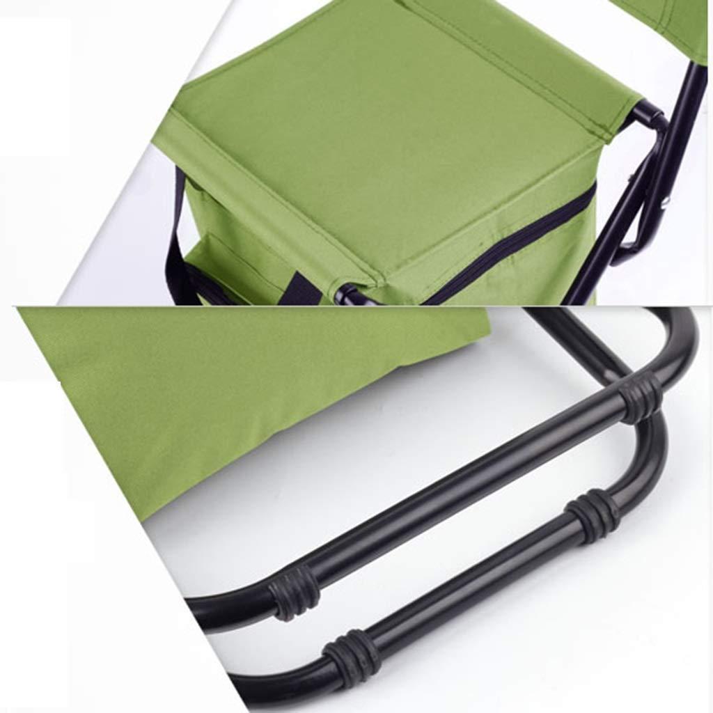 GZW001 Angeln Stuhl Klappstuhl Outdoor Folding Tragbare Isolierung Gefrorener Stuhl Zur/ück Angeln Malerei Kunststudent Camping Strand Klappstuhl