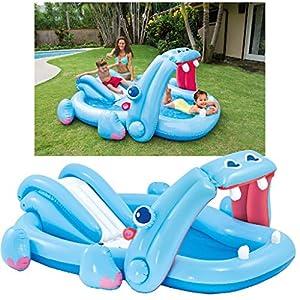 Intex 57150NP – Piscina hinchable hipopótamo 221 x 188 x 86 cm, 227 litros