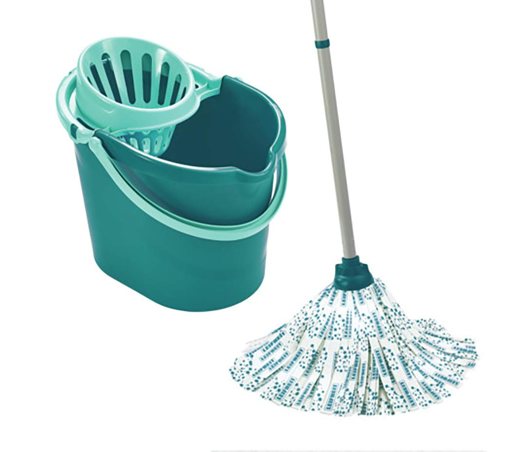 Leifheit Classic Mop And Bucket Set Turquoise Amazoncouk