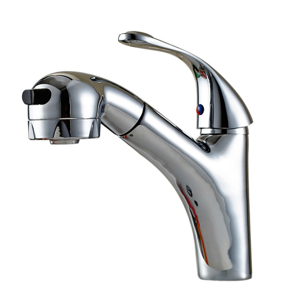 AQMMi Basin Sink Mixer Tap for Lavatory Brass Hot and Cold Water Pull-Out Hot and Cold Water Hot and Cold Water Bathroom Vanity Sink Faucet