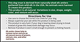 Medium, Split, Single Pack - Grade A Premium Elk Antler Chew for 20-40 lb dogs – Naturally shed from wild elk – No Mess, No Odor – – Made in the USA
