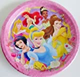 Disney Princess Paper Party Plates - Pack of 8 Full Size Plates