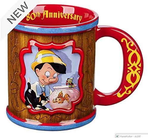 Disney Pinnochio - Taza de desayuno, diseño de 80 aniversario: Amazon.es: Hogar