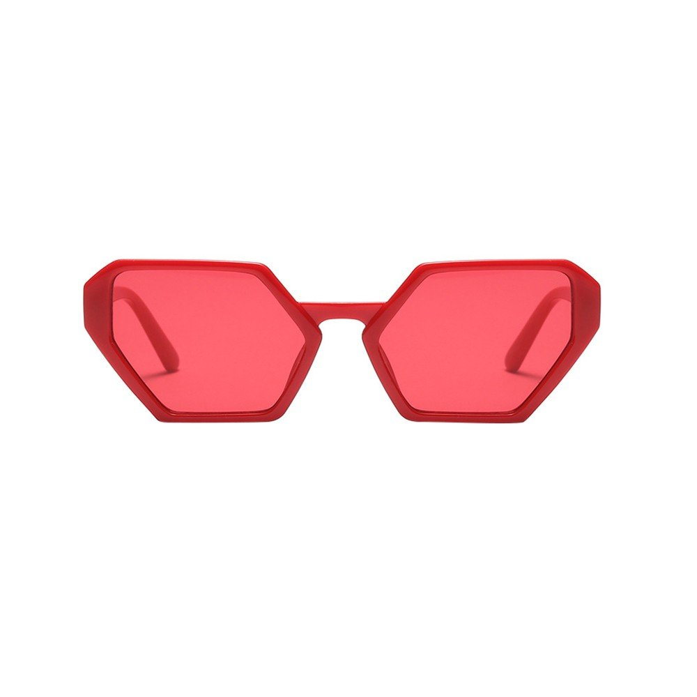 YEZIJIN Fashion Vintage Irregular Shape Sunglasses Retro Eyewear Fashion Ladies Man