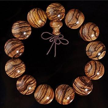 上質 アクセサリー ブレスレット 女性用 数珠ブレスレット 腕輪念珠 虎模様 木玉ブレス 腕輪数珠