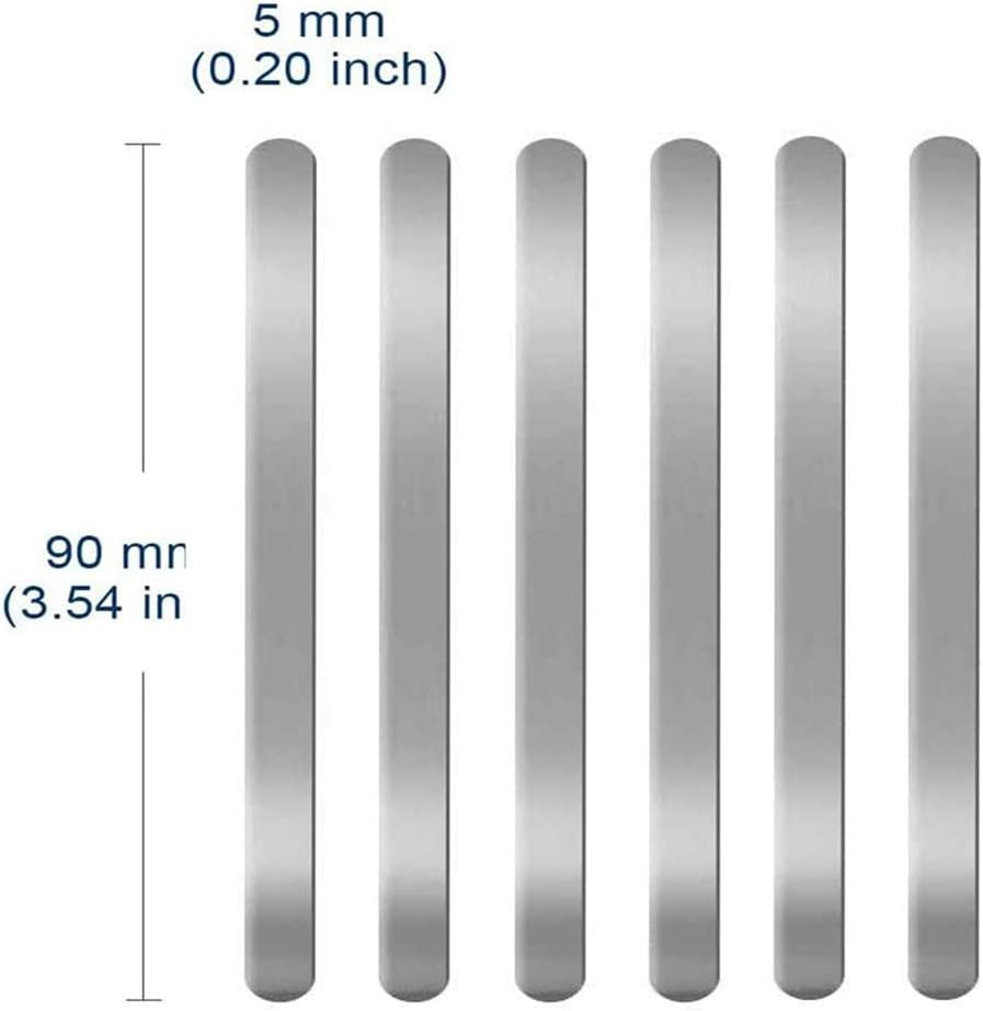200Pcs Flachmaske Aluminiumdraht Metall Flachaluminium Bar Strip Nasenbr/ücke f/ür Gesicht DIY Herstellung Zubeh/ör Handwerk Edinber 100Pcs