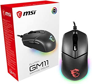MSI Gaming 5000 Adjustable DPI RGB USB Gaming Grade Optical Wired Gaming Mouse (Clutch GM11) (S12-0401650-CLA)