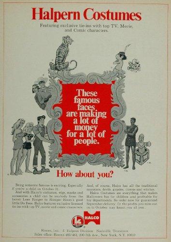 Lil Abner Costumes (1970 Ad Halloween Costumes Halco Lone Ranger Li'l Abner - Original Print Ad)