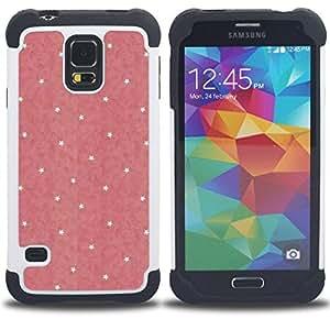 For Samsung Galaxy S5 I9600 G9009 G9008V - polka dot pink yellow pattern wallpaper Dual Layer caso de Shell HUELGA Impacto pata de cabra con im??genes gr??ficas Steam - Funny Shop -